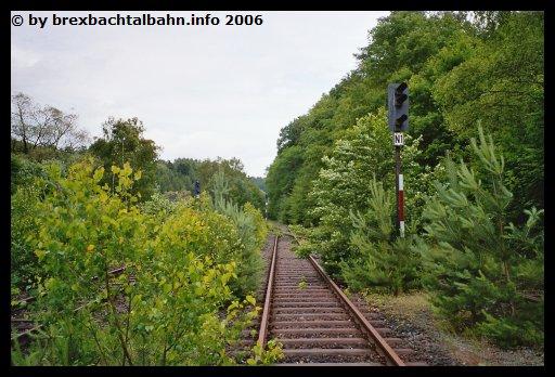 Bf Grenzau Ausfahrt Richtung Siershahn Gleis 1 (Blickrichtung Siershahn)
