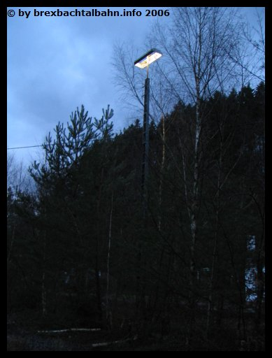 Bf Grenzau Beleuchtung nordwestlich von Gleis 6