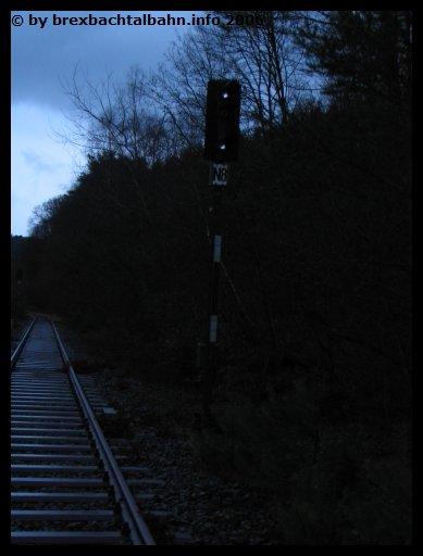 Bf Grenzau Ausfahrsignal Gleis 8 Richtung Siershahn