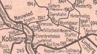 Übersichtskarte 1944