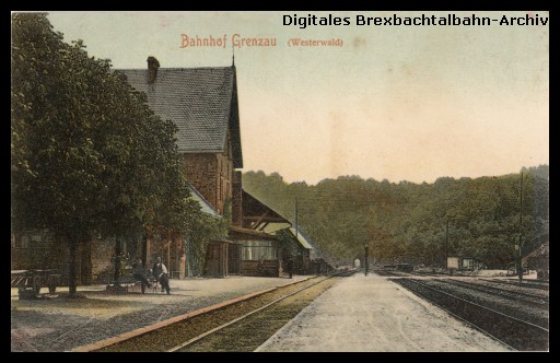 Bahnhof Grenzau um 1910